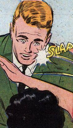 'SLAP', Funny Vintage Comic Book Art.