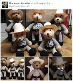 Texas State Trooper Bears by Mrs.