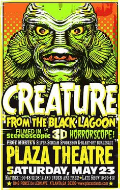Ad for the Movie Creature from the Black Lagoon ~ Kevin Rej