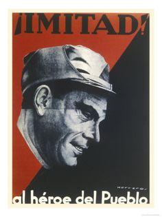 Spain - 1936. - GC - poster - Buenaventura Durruti