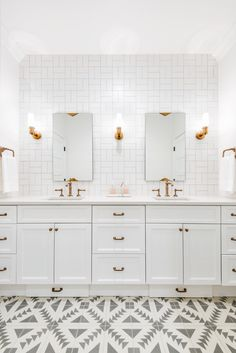 For me and Keith's bathroom, except black tile. Caitlin Wilson | Bathroom Trend Alert: Pattern
