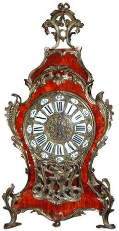 A Magnificent 19th Century Louis XV Red Tortoiseshell and Ormolu Clock, 2751