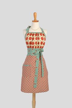 Cute Kitsch Retro Apron  Full Kitchen Womens by CreativeChics