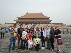 Dominican students in the Forbidden City, Beijing China.
