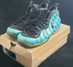 new arrival 76a92 75920 NIKE AIR FOAMPOSITE PRO ELECTRIC BLUE Sz 10.5 with original box  fashion   clothing