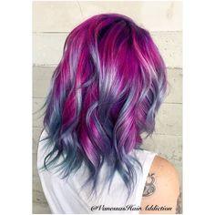 My number one changed it up again. @kiissabutt I love the trust you give me. @pulpriothair @butterflyloftsalon #vanessashairaddiction #pinkhair #butterflyloftsalon #pulpriot #pulpriothair #purplehair @purple.hair.affair #creativehair