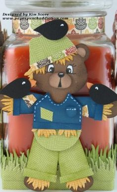 punch art scare bear by needmorestamps - Cards and Paper Crafts at Splitcoaststampers