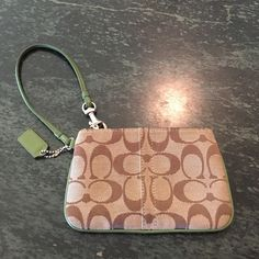 Coach wristlet! Offers welcome! 4x6.25 inches!! Authentic coach wristlet in great condition! Coach Bags Clutches & Wristlets