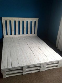 Recycled Pallet #Bed Frame | 101 Pallets                                                                                                                                                      More