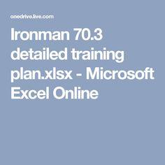 Ironman 70.3 detailed training plan.xlsx - Microsoft Excel Online