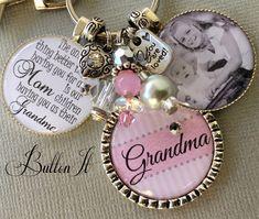 GRANDMA gift, PHOTO pendant, PERSONALIZED gift, Grandmother, Mimi, Nana, Grandma necklace, Gifts for Grandma, Gifts for Mom, Mother's Day gift, charm necklace