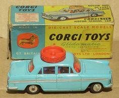 Corgi Driving School Car - Loved steering this around the floor School Car, Driving School, Childhood Toys, Childhood Memories, Corgi Toys, Vintage Boys, Tin Toys, Retro Toys, Classic Toys