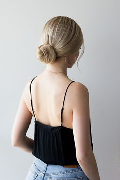 HOW TO: 3 EASY Low Bun Hairstyles - Alex Gaboury