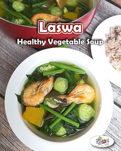 Laswa Recipe is a healthy dish and very rich in fiber. Best served while hot and… Laswa Recipe is a healthy dish and very rich in fiber. Best served while hot and the vegetables are still firm. via Pinoy Recipe at Iba Pa Filipino Vegetable Recipes, Healthy Vegetable Recipes, Healthy Dishes, Healthy Meal Prep, Vegetable Dishes, Custaroons Recipe, Pinoy Recipe, Filipino Desserts, Filipino Recipes