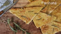 Farinata is a typical Italian flatbread made with chickpea flour. It's a bit crispy on the edges and moist in the middle. One of the easiest and delicious recipes! Kinds Of Pie, Classic Italian, Yummy Food, Delicious Recipes, Bread Recipes, Pineapple, The Creator, Gluten Free, Fruit