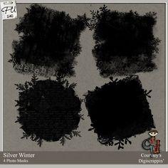 Silver Winter Photo Masks : Scrap Art Studio, Where Creativity Soars