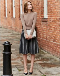 Pure Collection Knitted Full Skirt