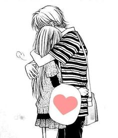 Find images and videos about girl, boy and anime on We Heart It - the app to get lost in what you love. Anime Love, Manga Love, Manga Anime, Anime Amor, Anime Couples Hugging, Cute Anime Couples, Couple Hugging, Cute Couple Drawings, Cute Drawings