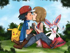 amourshipping ready to kiss by hikariangelove.deviantart.com on @DeviantArt