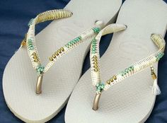 A personal favorite from my Etsy shop https://www.etsy.com/il-en/listing/508210377/wedding-sandals-havaianas-bridesmaid