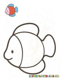 Eenvoudige kleurplaten voor peuters en kleuters! | Eenvoudige-kleurplaten-kleuren | peuters-kleuters-kleuren | kleurplaten-simpel-kinderen Art Drawings For Kids, Colorful Drawings, Drawing For Kids, Easy Drawings, Drawing Art, Easy Coloring Pages, Coloring Sheets For Kids, Coloring Books, Kids Coloring