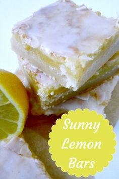 These sweet and tart lemon bars are perfect for spring and summer. Easy to make and great with fresh lemon