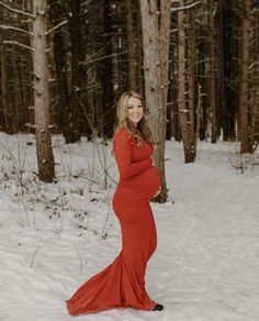 Snowy winter maternity photoshoot. Red maternity gowns for photoshoots by @sexymamamaternity #SexyMamaMaternity #ShopSexyMama Winter Maternity Outfits, Maternity Gowns, Blue Gown, Mock Neck, Photoshoot, Formal Dresses, Long Sleeve, Sexy, Shopping