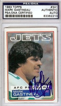 Mark Gastineau Autographed/Hand Signed 1983 Topps Card PSA/DNA #83362210 by Hall of Fame Memorabilia. $56.95. This is a 1983 Topps Card that has been hand signed by Mark Gastineau. It has been authenticated by PSA/DNA and comes encapsulated in their tamper-proof holder.