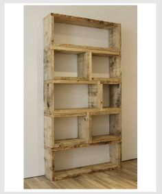 Relic Design -recycle palette shelving