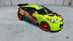 Hyundai Veloster # 37 of xxEl PischO xx in the window of Forza Motorsport 4