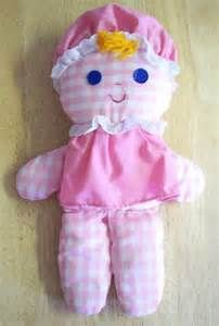 "Vintage Fisher-Price ""Lolly"" rag doll. Produced from 1975 - 80s, this washable toy can fetch up to $30 online. I purchased mine for $1 at a middle TN Goodwill store."