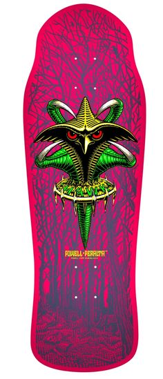 520a21c0571 Powell Peralta Tony Hawk Claw Skateboard Deck 1 Powell Peralta Bones  Brigade x Hawk Claw Deck Pink Original shape and graphic from the Eig
