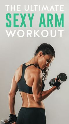 This is the ultimate workout for sexy, sculpted arms. These moves will not only get you those lean and toned arms you've been searching for, but strong arms also reduce muscle pain in the neck and traps. Get to know more in this post. Arm Muscles Workout, Tone Arms Workout, Lean Arms, Toned Arms, Strong Arms, Arm Workouts At Home, Arm Toning Workouts, Kettlebell Arm Workout, Workout Circuit