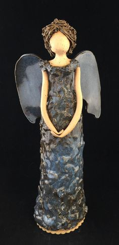 Your place to buy and sell all things handmade Clay Angel, Pottery Angels, Handmade Angels, Ceramic Angels, Tiny Waist, Pottery Classes, Stoneware Clay, Pottery Ideas, Very Lovely