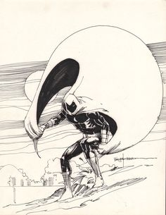 Marvel comics moon knight picture by sienkiewicz Comic Book Artists, Comic Book Characters, Marvel Characters, Comic Artist, Comic Books Art, Marvel E Dc, Marvel Comic Universe, Marvel Comics Art, Comics Universe