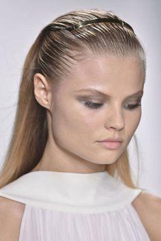 Elle Saab - Best Hair Trends for Spring 2014 - Harper's BAZAAR #collectiveworkshop