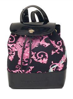 Versace Girls Printed Pink Black Backpack at PureAtlanta.com