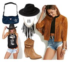 """Tasseles"" by yoyomelody ❤ liked on Polyvore featuring MANGO, Akira and Wet Seal"
