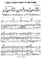 The Lion King - I Just Cant Wait To Be King - Free Downloadable Sheet Music