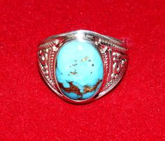 92.5 Solid Sterling Silver Mojave Turquoise by gemsnjewelryworld