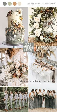 Top 10 Wedding Color Trends to Inspire in 2020 Top 10 Wedding Color Trends to Inspire in inspiration – Hochzeit Inspiration Farbkonzepte silver sage and terracotta brown 2020 wedding color trends Related posts:Credits:. Sage Green Wedding, Burgundy Wedding, Blush Champagne Wedding, Grey Wedding Invitations, Pink Invitations, Wedding Card, Wedding Ring, Wedding Ceremony, Brides And Bridesmaids