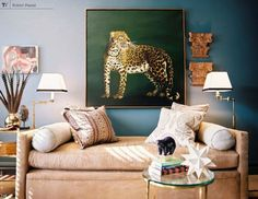I want a leopard painting
