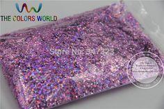 1.0MM size Laser Peach Color  Glitter Powder-Holographic Nail glitter