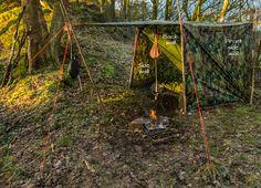 "Ravenlore Bushcraft and Wilderness Skills. The ""Wayland Shed"" Extended Adirondack Tarp Shelter"