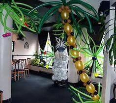 Resultado de imagen para centros de mesa animales de la selva