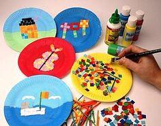 how to make kids craft activities mosaics, childrens craft supplies