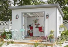 Your own space, and in the garden to boot? Let's face it. We ladies deserve a She Shed. And guess what? You can have one! That's right ladies, get to plannin'. These DIY she shed tutorials will have you creating a space where you can finally have all the pillows you want, and no one throws them on the floor.