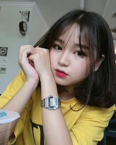 Pretty Girl of Asian - Smile Girl Beauty Pretty Korean Girls, Cute Korean Girl, Cute Asian Girls, Beautiful Asian Girls, Cute Girls, Ulzzang Short Hair, Korean Short Hair, Mode Ulzzang, Ulzzang Korean Girl