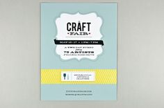 Retro Craft Fair Flyer Template - The classic colors, home-made textures, and retro type of this craft fair flyer make it a wonderful way to advertise for an expo of all things homespun. Whether for a craft fair, a knitting circle, or a boutique, this flyer is sure-fire way to catch eyes and draw customers in for more.