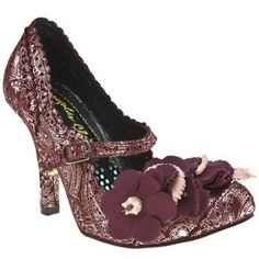 Irregular Choice Womens Ic Cortesan Floral Bar Ct High Heels